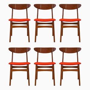 Dänische Vintage Esszimmerstühle aus Teak von Falsled Mobelfabrik, 1960er, 6er Set