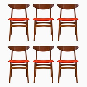 Vintage Danish Teak Dining Chairs from Falsled Mobelfabrik, 1960s, Set of 6