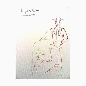 Torero's Son Lithografie von Jean Cocteau, 1961