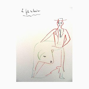 Torero's Son Lithograph by Jean Cocteau, 1961