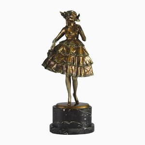 Austrian Bronze Female Sculpture by Bruno Zach, 1920s