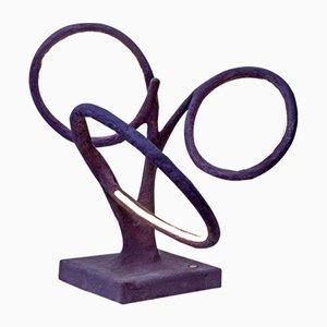 Escultura luminosa Autopoiesis en púrpura de Morghen Studio