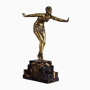 Bronze Dancer Sculpture by D. H. Chiparus, 1930s