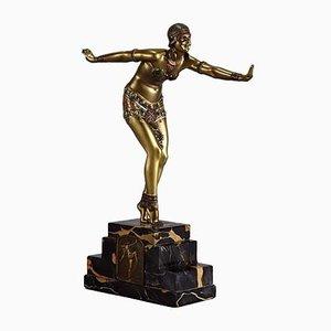 Sculpture de Danseuse en Bronze par D. H. Chiparus, 1930s