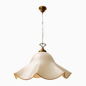 Lampada da soffitto Handkerchief Mid-Century in vetro di Murano Incamiciato di Maestri Muranesi, anni '70