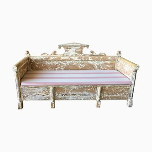 Antique Swedish Wooden Bench, 1910s