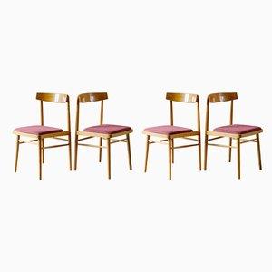 Mid-Century Esszimmerstühle von Miroslav Navratil für TON, 1960er, 4er Set