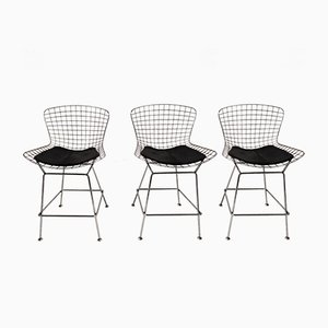 Wire Bar Stools, 1980s, Set of 3