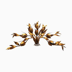 Gilded Branch Wall Sconce, 1970s