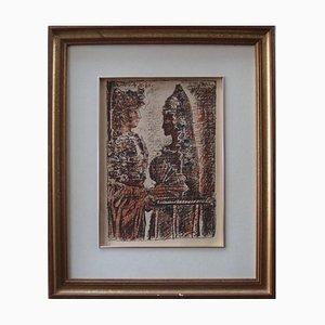 Torero y Senorita Lithografie von Pablo Picasso, 1960er
