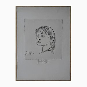 Vintage Dany Lithograph by Bernard Buffet