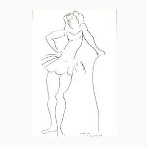 Affiche d'Exposition d'après un Dessin de Matisse Vintage par Henri Matisse pour Galerie Benador, 1980
