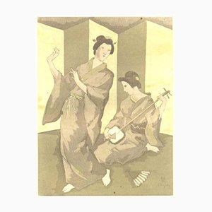 La Troisième Jeunesse de Madame Prune Portfolio with 10 Aquatints by Tsuguharu Foujita, 1926