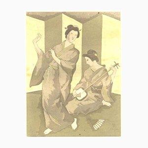 Portefolio La Troisième Jeunesse de Madame Prune avec 10 Aquatintes par Tsuguharu Foujita, 1926