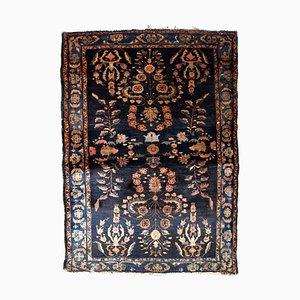 Orientalischer Vintage Teppich in Dunkelblau, 1920er