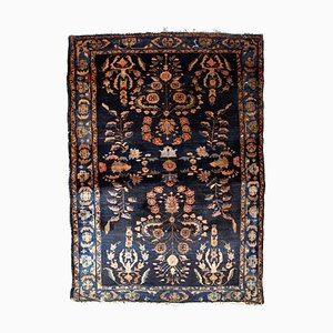 Vintage Middle Eastern Dark Blue Rug, 1920s