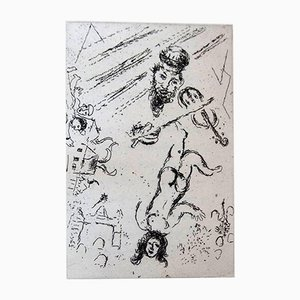 Letter To Chagall Portfolio with 5 Etchings by Marc Chagall, 1969