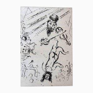 Portfolio Letter to Chagall avec 5 Gravures à l'Eau-Forte par Marc Chagall, 1969