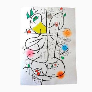 Vintage Le Miroir de l'Homme par les Bêtes Portfolio with 5 Etchings by Joan Miró