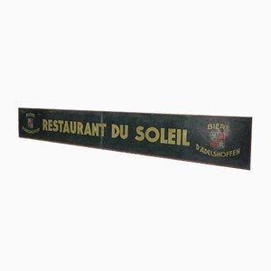Rótulo de restaurante francés, años 50