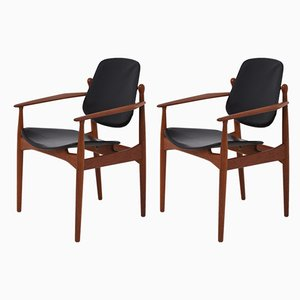 Mid-Century Model FD-184 Lounge Chairs by Arne Vodder for France & Søn/France & Daverkosen, Set of 2