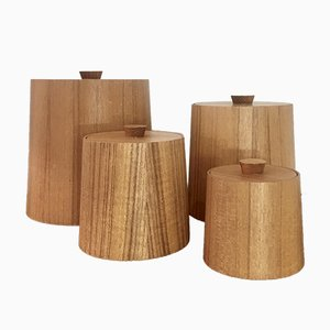 Japanese Teak Nesting Boxes Set, 1970s