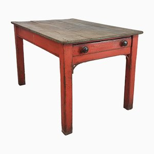Vintage Painted Pine Kitchen Table, 1920s