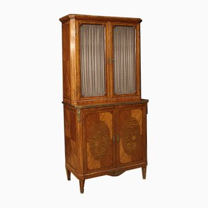 French Rosewood, Mahogany, Maple, and Walnut Inlaid Cabinet, 1920s