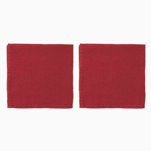 Light Weight Linen Napkins by Once Milano, Set of 4