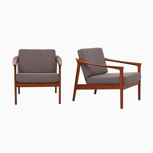 Monterey Armchairs by Folke Ohlsson for Bodafors, 1963, Set of 2