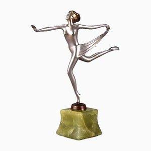 Österreichische Skulptur einer Tänzerin aus Bronze von Josef Lorenzl, 1930er