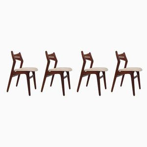 Model 310 Dining Chairs by Erik Buch for Chr. Christiansen Møbelfabrik, 1960s, Set of 4
