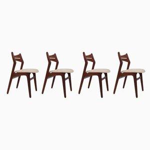 Modell 310 Esszimmerstühle von Erik Buch für Chr. Christiansen Møbelfabrik, 1960er, 4er Set