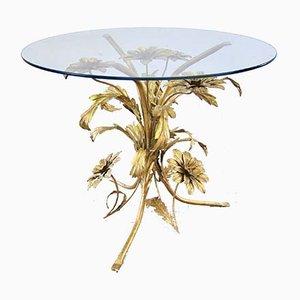 Tavolino in ottone dorato di Hans Kögl, anni '70