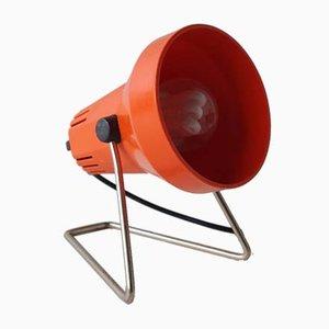 Lámpara de mesa roja, años 70