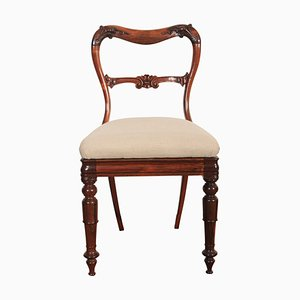 Antique Rosewood Kidney-Shaped Dining Chair