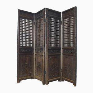 Paravent à 4 Panneaux Antique, Chine