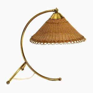 Lámpara de mesa de latón de J. T. Kalmar, años 50