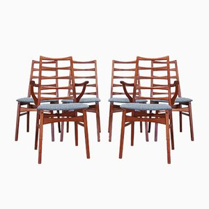 Danish Teak Dining Chairs from Dyrlund, 1960s, Set of 6