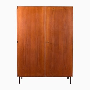 German Teak Veneered Wardrobe, 1960s