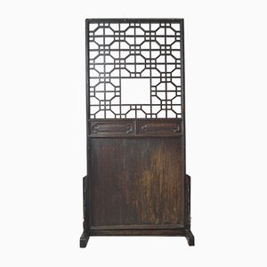 Biombo chino antiguo de madera