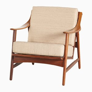 Danish Teak Lounge Chair by Arne Hovmand Olsen for Mogens Kold, 1950s
