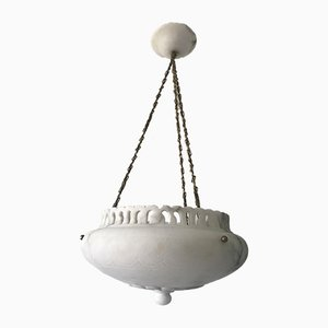 Swedish Alabaster Pendant Lamp, 1920s
