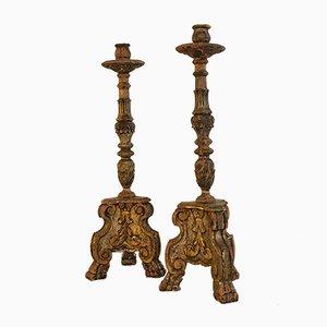 Antike Kerzenhalter, 2er Set
