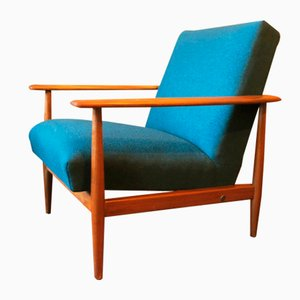 Blue-Green Lounge Chair, 1960s