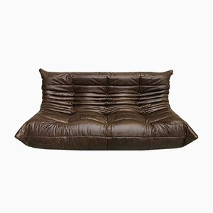 Dark Brown Togo Sofa by Michel Ducaroy for Ligne Roset, 1970s