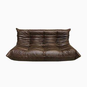 Dark Brown Togo Sofa by Michel Ducaroy for Ligne Roset, 1970s