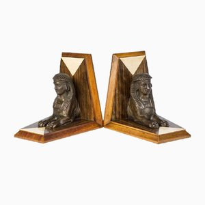 Art Deco Sphinx Bookends, 1920s, Set of 2