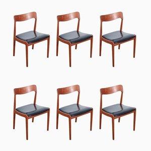 Sedie in teak, anni '60, set di 6