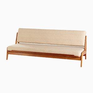 Sofá cama danés de teca de Arne Wahl Iversen para Komfort, años 60